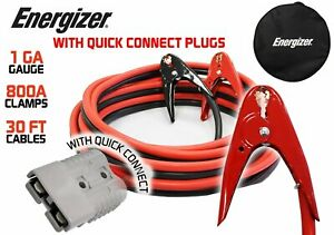 Enb130 Energizer 1awg 30ft Heavy Duty Jumper Cable Install Kit W Quick Connect