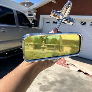 Rare Og Gold Guide Mirror 1930s 1940s 1950s Chevy Gm Accessory Cadillac Vintage