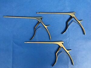 Set Of 3 Ruggles 3 4 5mm 40 Up Ultra Coat 9 Kerrison Rongeurs Neuro Spine