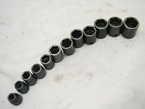 Snap On 12 Pc Shallow Length 3 8 Drive Metric Impact Sockets 8 19mm 6 Point