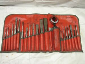 Snap On Chisel And Punch 22 Pc C2201 Auto Body Repair Shop Tools