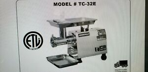 New 32 Meat Grinder All Stainless Steel 2h p 110 Volt Uniworld