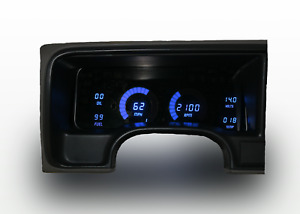 1995 1999 Chevy Truck Digital Dash Panel Blue Led Gauges Made In The Usa