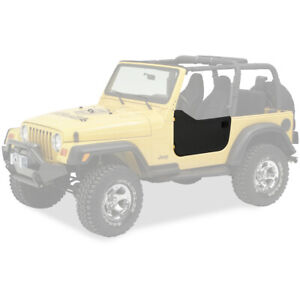53039 35 Bestop Lower Fabric Half Door Black Diamond For Jeep Wrangler 1997 2006