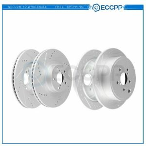 Front And Rear Discs Brake Rotors For Subaru Forester 2009 2010 Drilled Slotted