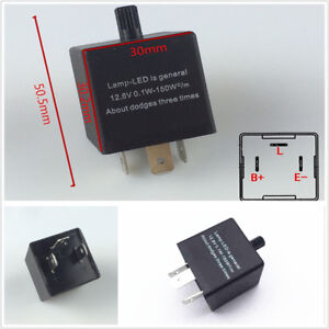 12v 3 Pin Electronic Led Flasher Relay For Car Turn Signal Blinker Light Durable