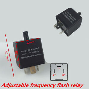 3 Pin Adjustable Electronic Led Flasher Relay For Car Turn Signal Blinker Light