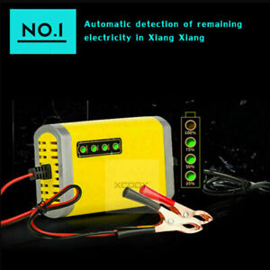 12v Volt Car Battery Charger Maintainer 2amp Trickle Automatic Motorcycle