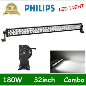 32 inch 180w Led Light Bar Flood Spot Combo Driving Suv Tractor Boat Slim Vs 30