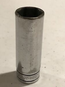 Snap On Tools 3 8 Drive 5 8 Deep Well Socket Old Logo Sfs201 Usa