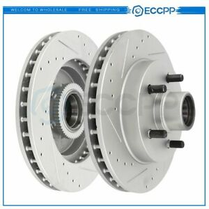 Front Brake Discs Rotors For Chevy C1500 1995 1999 2wd Drilled And Slotted