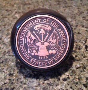 U S Army Bakelite Shift Knob This We Ll Defend United States Logo Emblem