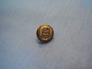 Domino Button Dice Old Small Brass Back Loop 1 2 Very Unusual