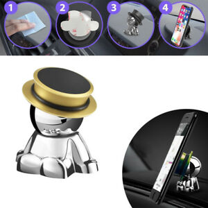 Gold Magnetic Phone Mount Stand Holder Car Dashboard 360 Rotation Accessories