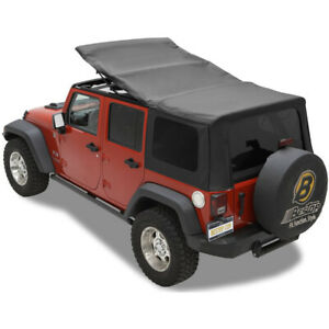 79137 35 Bestop Sailcloth Replace A Top Black Tinted For Jeep Wrangler 2007 2009