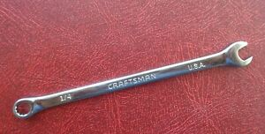 1 4 Craftsman Professional Combination End Wrench 45973 Made In Usa