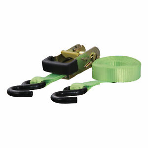 83027 Curt 16 Lime Green Cargo Strap With S Hooks 1 100 Lbs