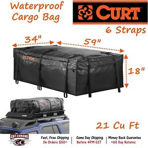 18221 Curt Extended Roof Rack Cargo Bag 59 X 34 X 18 With 21 Cu Ft Storage