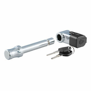 23510 Curt 5 8 Right angle Chrome Trailer Hitch Locking Pin For 2 Receiver