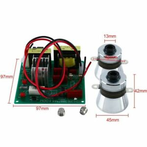 1pc 110v Ultrasonic Cleaner Power Driver Board With 2 Pcs 50w 40k Transducers