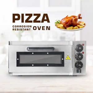2000w Commercial Single Deck Countertop Pizza Oven Cake Bake Machine Ce Ul Plug