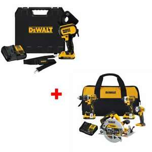 Dewalt Dce150d1 20v Max Cable Cutting Tool Kit With Free 4 tool Combo Kit