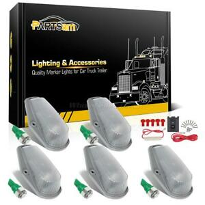 5pcs Clear Cab Roof Running Light 168 5 5050 smd Green Led wiring For 80 97 Ford