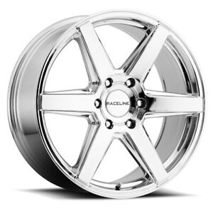 4 new 18 Inch Raceline 156c Surge 18x8 6x135 35mm Chrome Wheels Rims