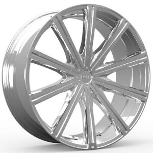 4 18 Inch Kronik 404 Epiq 18x8 5x100 5x114 3 5x4 5 40mm Chrome Wheels Rims