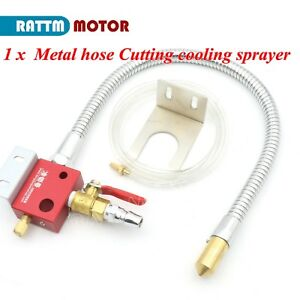 Flexible Metal Outer Hose Cutter Cooling oil Mist Coolant Sprayer For Cnc Router