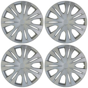 4 Piece Set Hub Caps Abs Silver 16 Inch Wheel Cover For Oem Rims Cap Covers