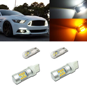 For 2015 Up Ford Mustang As Turn Signal Lights Drl Switchback 28 Smd Led Kit