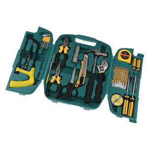 Lc8027 27 piece Tool Set General Household Hand Tool Kit With Storage Case