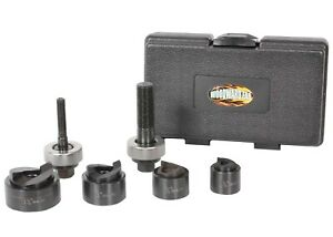 Wfko4 Knock Out Punch Kit 4 Pc Conduit Size 1 2 3 4 1 1 1 4