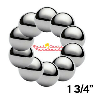 1 3 4 Chrome Steel Bearing Balls For Paracord Project 10 Pack