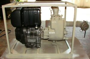 Us Military Diesel Water Pump Lombardini Centrifugal 65 Gpm Used