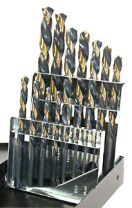 15 Pc Left hand Drill Bit Set Index 1 16 To 1 2 By 32nds Huot Usa Cobalt