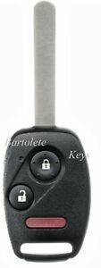 Replacement Remote Car Key Fob For Honda Crz Insight Crv Fit Accord Crosstour