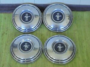 68 69 Ford Mustang Dog Dish Hub Caps 10 1 2 Set Of 2 Poverty Hubcaps 1968 1969