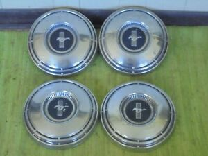 68 69 Ford Mustang Dog Dish Hub Caps 10 1 2 Set Of 3 Poverty Hubcaps 1968 1969