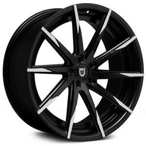 22 Lexani Wheels Css 15 Stagger Black Mbt Rims Tires Fit Mercedes S550 Sls Bmw
