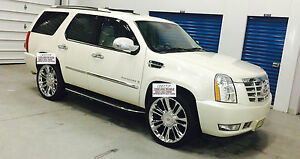 24 Wheels Tires Cadillac Escalade Platinum Style Chrome Rims Tpms Ext Esv 26
