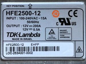 Tdk Lambda Hfe2500 12 12v 200a 2400 Watt Dc Power Supply