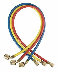 Yellow Jacket Manifold Hose Set Low Loss 45 1 4 Female Brass Fitting
