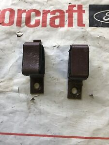 1965 Thru 1969 Ford Mustang Gt Exhaust Hanger Insulater Bracket Stamped Fomoco