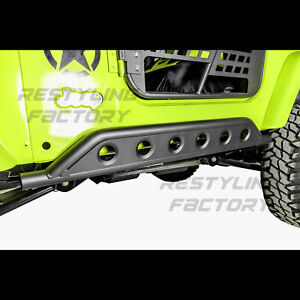 Rock Crawler Side Armor Rocker Slider Guard For 97 06 Jeep Wrangler Tj 1set
