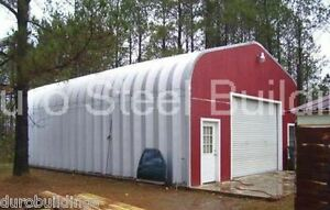 Durospan Steel 25x30x13 Metal Building Kit Gabled Roof Open Ends Factory Direct
