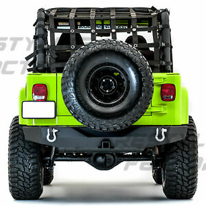 Hd Full Width Rock Crawler Rear Bumper Receiver Hitch For 97 06 Jeep Wrangler Tj