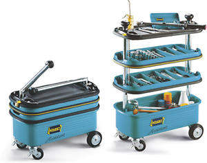 Automotive Shop Tool Trolley Assistant 4 Section Collapsible Garage Empty 166n