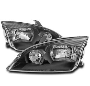 For 05 06 07 Ford Focus Lx S Se St Zx3 Replacement Headlight Headlamp Lamp Black